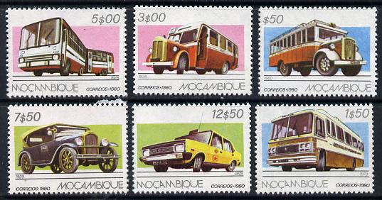 Mozambique 1980 Road Transport set of 6 unmounted mint SG 803-08*