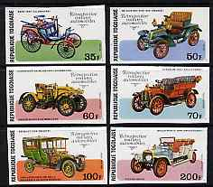 Togo 1977 Early Motor Cars imperf set of 6 from limited printing unmounted mint as SG 1200-05, stamps on cars, stamps on benz, stamps on de dion, stamps on sunbeam, stamps on rolls, stamps on renault, stamps on daimler
