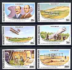 Togo 1978 75th Anniversary of Wright Brothers imperf set of 6 from limited printing unmounted mint as SG 1258-63