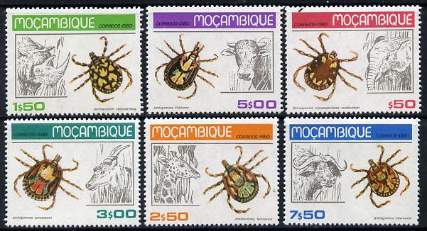 Mozambique 1980 Ticks set of 6 unmounted mint SG 797-802*