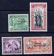Cook Islands 1946 KG6 Peace set of 4 unmounted mint, SG 146-49