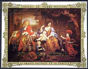 Chad 19?? Le Grand Dauphin et sa Famille 100f perf m/sheet by Pierre Mignard unmounted mint