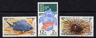 New Zealand 1979 Health - Marine Life & Photography set of 3 unmounted mint SG 1197-99