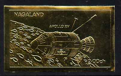 Nagaland 1972 Apollo 15 2ch value embossed in gold foil (imperf) unmounted mint