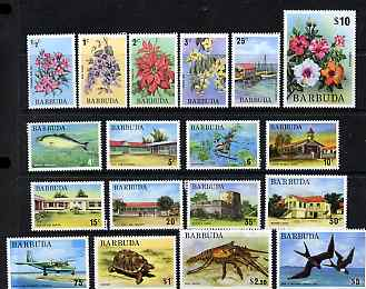 Barbuda 1974 definitive set complete, 18 values 1/2c to $10 unmounted mint SG 181-97b