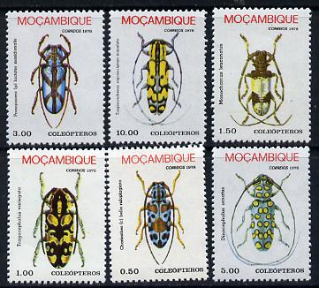Mozambique 1978 Beetles set of 6 unmounted mint SG 699-704