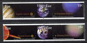 Ireland 2007 The The Planets perf set of 4 (2 se-tenant pairs) unmounted mint