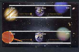 Ireland 2007 The The Planets perf m/sheet containing 2 se-tenant pairs, unmounted mint