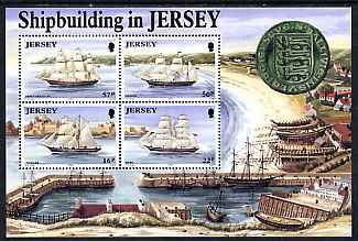 Jersey 1992 Ship Building perf m/sheet unmounted mint SG MS 583