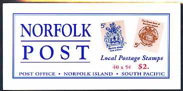 Booklet - Norfolk Island 1997 Norfolk Post $2 booklet complete & fine SG SB8
