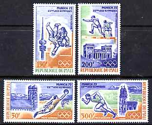 Mali 1972 Munich Olympic Games perf set of 4 unmounted mint SG 317-20