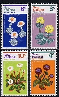 New Zealand 1972 Alpine Flowers set of 4 unmounted mint, SG 983-86*