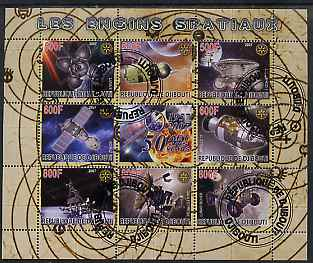 Djibouti 2007 50th Anniversary of Space Travel - Capsules perf sheetlet containing 8 values plus label fine cto used