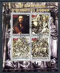 Djibouti 2007 The Engravings of Albrecht Durer perf sheetlet containing 4 values fine cto used