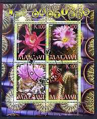 Malawi 2007 Cactii perf sheetlet containing 4 values fine cto used