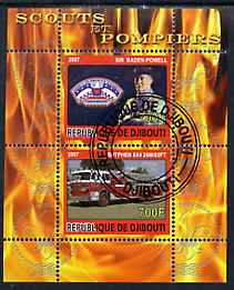 Djibouti 2007 Scouts & Fire Engines #3 perf s/sheet containing 2 values fine cto used