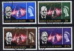Gilbert & Ellice Islands 1966 Churchill Commem perf set of 4 fine cds used, SG106-9