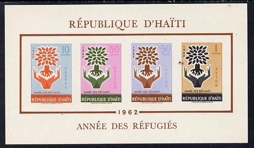 Haiti 1962 Uprooted Tree Refugee Year imperf m/sheet (SG MS 810) unmounted mint