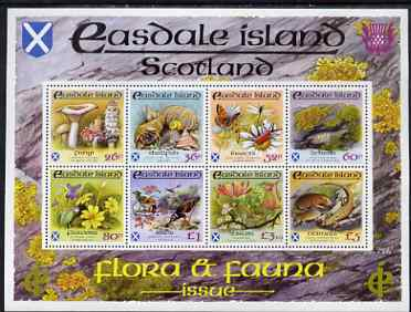Easdale 1988 Flora & Fauna definitive perf sheetlet containing complete set of 8 values (26p to \A35) superb unmounted mint