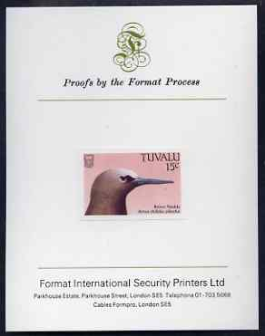 Tuvalu 1988 Common Noddy 15c imperf proof mounted on Format International proof card