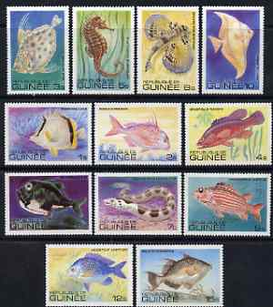 Guinea - Conakry 1980 Fishes perf set of 12 unmounted mint SG 1026-37, stamps on fish