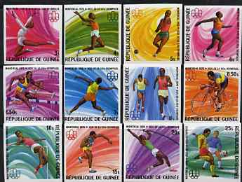 Guinea - Conakry 1976 Montreal Olympic Games imperf set of 12 from a limited printing unmounted mint as SG 894-905