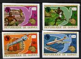 Guinea - Conakry 1974 Centenary of UPU imperf set of 4 from a limited printing unmounted mint as SG 858-61