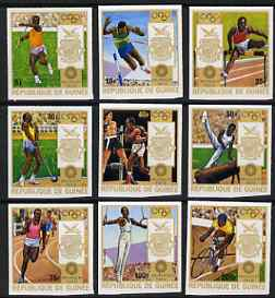 Guinea - Conakry 1972 Munich Olympic Games imperf set of 9 from a limited printing unmounted mint as SG 798-806