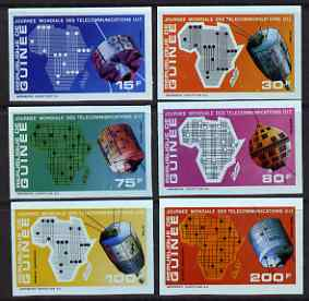 Guinea - Conakry 1972 World Telecommunications Day imperf set of 6 from a limited printing unmounted mint as SG 780-85