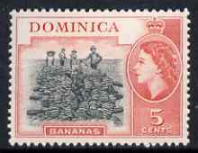 Dominica 1954-62 Bananas 5c (from def set) fine unmounted mint SG146
