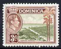 Dominica 1938-47 KG6 3d Layou River fine unmounted mint SG104
