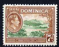 Dominica 1938-47 KG6 7d Fresh Water Lake fine unmounted mint SG105a
