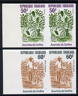 Togo 1979 Tree Day set of 2 in unmounted mint imperf pairs (as SG 1365-6)*