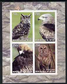 Benin 2005 Birds of Prey imperf sheetlet containing 4 values unmounted mint