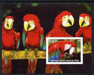 Congo 2002 Parrots #2 imperf m/sheet unmounted mint