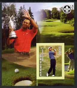 Benin 2007 Tiger Woods imperf m/sheet with Scout Logo, unmounted mint
