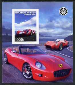 Benin 2007 Ferrari Cars imperf m/sheet with Scout Logo, unmounted mint