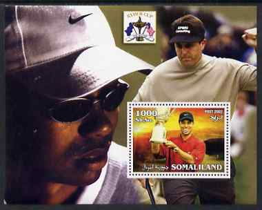 Somaliland 2002 The Ryder Cup perf m/sheet #2 unmounted mint