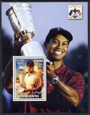 Somaliland 2002 The Ryder Cup perf m/sheet #3 unmounted mint