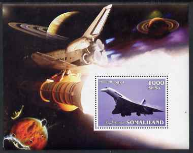 Somaliland 2002 Concorde & Space Shuttle perf m/sheet unmounted mint