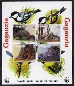Gagauzia Republic 1998 WWF - Wild Animals imperf sheetlet containing 4 values unmounted mint