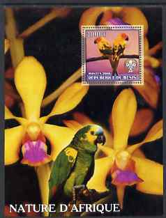 Benin 2006 Nature of Africa - Parrots & Orchids (with Scout Logo) perf m/sheet, unmounted mint