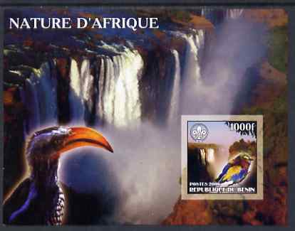 Benin 2006 Nature of Africa - Birds & Waterfalls (with Scout Logo) imperf m/sheet, unmounted mint