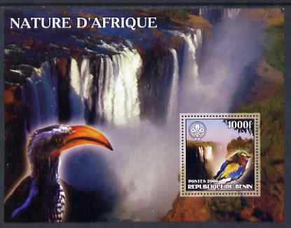 Benin 2006 Nature of Africa - Birds & Waterfalls (with Scout Logo) perf m/sheet, unmounted mint