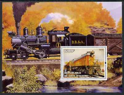 Ivory Coast 2004 Classic Locomotives #3 perf m/sheet unmounted mint