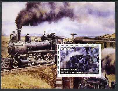 Ivory Coast 2004 Classic Locomotives #4 perf m/sheet unmounted mint