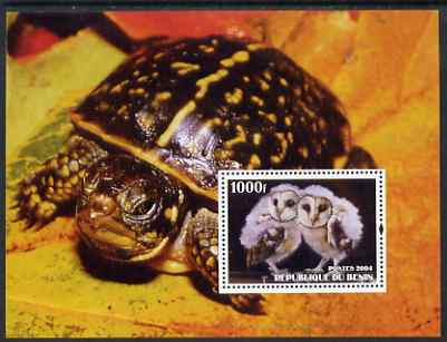 Benin 2004 Owls & Tortoises perf s/sheet #3 unmounted mint