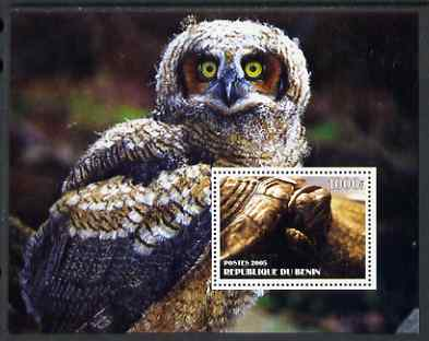Benin 2005 Tortoises & Owls perf s/sheet #2 unmounted mint