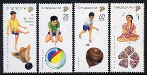 Singapore 1997 Singpex 97 Stamp Exhibition - Traditional Games perf set of 4 unmounted mint, SG 864-7