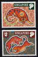 Singapore 1998 Chinese New Year - Year of the Tiger perf set of 2 unmounted mint, SG 914-5